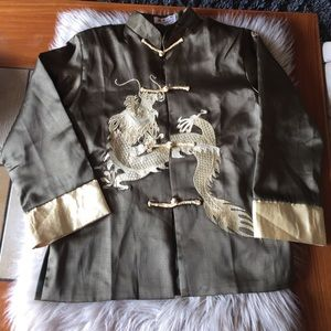 Traditional Chinese Boy Dragon Kung Fu Outfit Tang